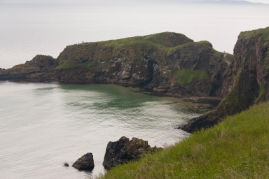 Carrick-a-Rede Rope Bridge from distance (Source - Robert Brown)